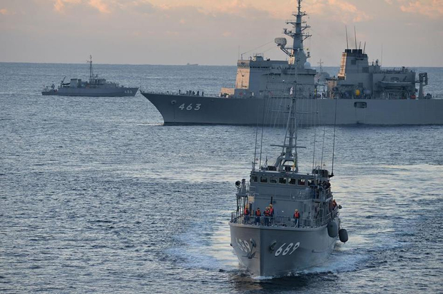 日美澳海上扫雷联训结束返港