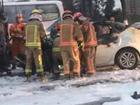 温州快递车与私家车相撞起火 4人死亡