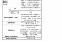國壽秦皇島分公司被罰10萬:未經批準擅自變更分支機構營業場所
