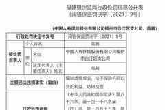 國壽福州臺江區支公司被罰87萬:給予保險合同以外的利益