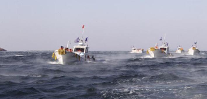 """獐子岛海域出现""""海浩""""奇观"""