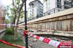 广西南宁一小学百米围墙坍塌无人员伤亡
