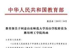 山师大历山学院更名潍坊理工学院 两年提仨校名