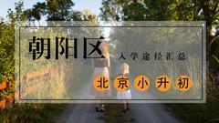 【朝阳区】2017小升初入学途径大汇总