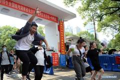 Annual college entrance exam ends in some parts of China