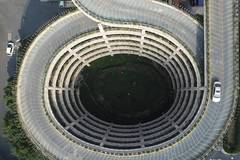 Hangzhou's car park features spiral ramps