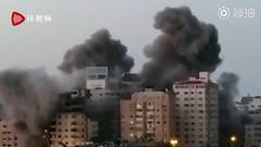 14-story Building In Gaza Collapses After Israeli Airstrikes