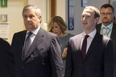 Zuckerberg appears before European Parliament representatives in Brussels, Belgium