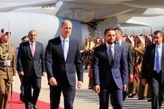 Britain's Prince William arrives in Amman, Jordan