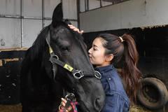 Female mounted patrol unit seen on duty in Arxan, N China's Inner Mongolia