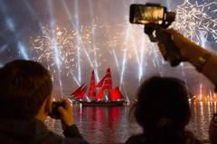 Scarlet Sails festival marked in St. Petersburg, Russia