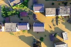 Heavy rain causes flood in Fuzhou, E China's Jiangxi