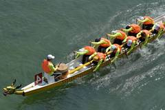 Dragon boat race held in Xuan'en County, central China's Hubei