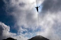 Highline Extreme event on 2,000-m Moleson peak