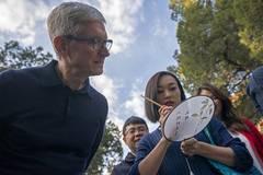 Apple's CEO Tim Cook visits Beijing