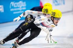 Park Jiwon wins gold of men' 500m short track speed skating