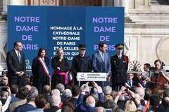 Commemoration ceremony held for Notre Dame Cathedral in Paris
