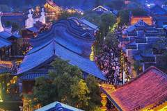 Night view of ancient town of Taierzhuang in China's Shandong