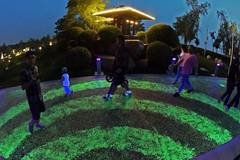 People walk on 2.5-km fluorescent walkway in Shenyang