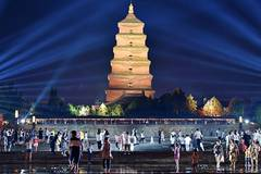 Scenery of Giant Wild Goose Pagoda scenic spot in Xi'an, China's Shaanxi