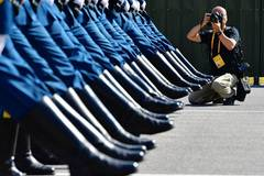 Journalists visit training site of National Day military parade in Beijing