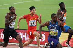 Highlights of men's 100m semi-final at IAAF World Athletics Championships