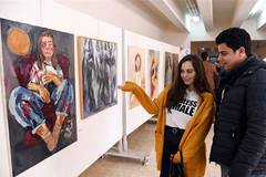 Art exhibition held in Damascus to call for elimination of violence against women