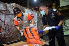 Medical supplies provided by China arrive in Jakarta, Indonesia