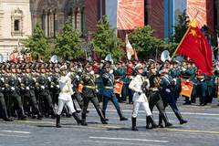 The Guard of Honor of PLA take part in Victory Day parade in Moscow