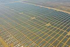 Dalad Photovoltaic Power Base in N China's Kubuqi Desert