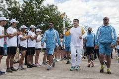 6th day of Rio Olympics torch relay in Marathonas