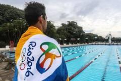 Brazilian swimmer Thiago Simon trains for Rio Olympics