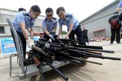 Beijing police seize nearly 1,000 guns this year
