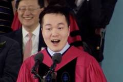 First mainland student addresses at Harvard's graduation ceremony