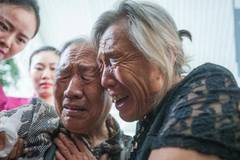 Tearful sisters meet after 73 years of separation
