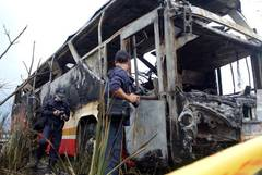 Taiwan bus bursts into flames, killing 26