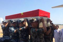 Remains of two Chinese UN peacekeepers leave for home
