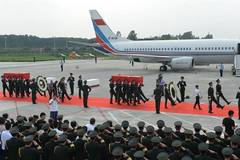 Ceremony held for returning of two Chinese UN peacekeepers' bodies