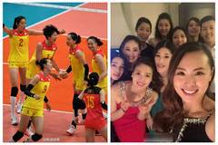 Lifestyle photos of Chinese women's volleyball players