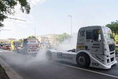 Participants of FIA European Truck Racing Championship attend festival in Budapest