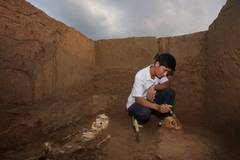 Human remains, pottery found in China's 4-millennia Dongzhao Ruins