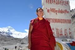 11th Panchen Lama visits Mount Qomolangma