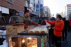 Hottest food market in China's coldest city