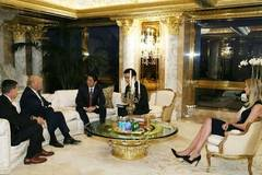 Trump's daughter sits in on landmark Japan PM talks