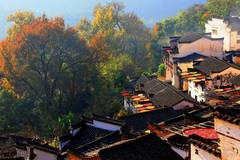 Scenery of ancient village in Wuyuan County, east China