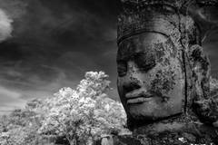 Magnificent Angkor in infrared photography