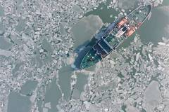 Sea ice area rises in NE China's Liaodong Bay