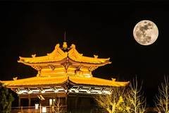 Full moon appears in sky over China