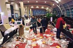 "S. Korean media complained about ""Chinese tourists littering"" at airport"