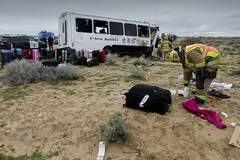 1 died, 26 injured as tour bus running by Chinese company crashes in California, US